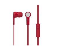 Icon Q JE20 Earbuds with Microphone - RED