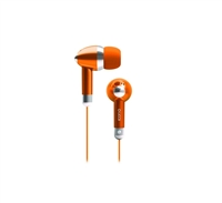 Icon Q QE1-KIC-ORG Kicks Earbuds - ORANGE