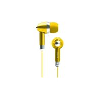Icon Q QE1-KIC-YEL Kicks Earbuds - YELLOW