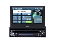 "Jensen VX3012 7"" Single-DIN Motorized Touchscreen Receiver w/DVD/CD/MP3/WMA/AM/FM/USB/AUX IN/Bluetooth"