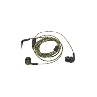 Kicker Flow 43EB73B Earbuds w/In-Line Mic/4 Silicon Tips/Angled Plug