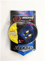 Kicker SV3 (05SV3) 3m/9.8Ft. True 75 Ohm S-Series Video Cable