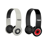 Naxa NE-932 Neurale Rechargeable/Foldable Bluetooth Headphones w/Built-In Mic