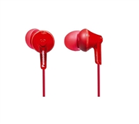 Panasonic RP-HJE125 Ergo Fit Stereo Earphones - RED