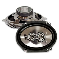 "Performance Teknique ICBM-768 6x8"" 3-Way 500 Watts Coaxial Car Speakers"