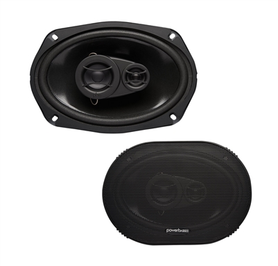 powerbass s 6903 6x9 210 watts 3 way coaxial speakers Wiring 2 4 Ohm DVC Subs