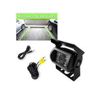 Pyle PLCMB20 Universal Mount Rear View Waterproof Backup Camera w/Distance Scale/Night Vision