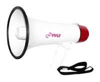 PYLE PMP40 40 Watts Professional Megaphone with Siren and Handheld Microphone