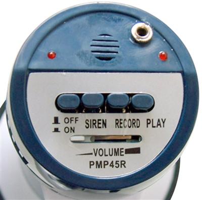 Pyle PMP45R Pro Professional Dynamic Megaphone w//Recording Detachable Microphone