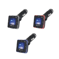 "IQ Sound IQ-206 Wireless FM Transmitter 1.4"" Screen Display USB/SD/AUX IN/Remote"