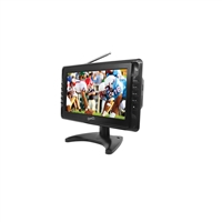"Supersonic SC-2810 10"" Rechargeable LCD TV w/Built-In Digital TV Tuner/USB/SD/MMC Reader/Remote"