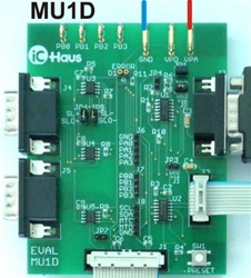 iC-MU EVAL MU1D (Adapter board)