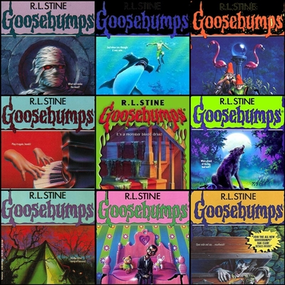 FIVE-PACK of randomly selected GOOSEBUMPS books - good or better quality by RL STINE DB00005 978DB00002