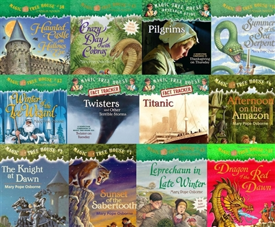 FIVE-PACK Bundle of Magic Tree House paperbacks