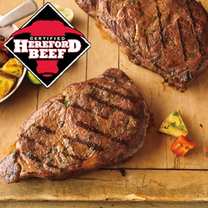 Certified Hereford Beef Ribeye Steaks
