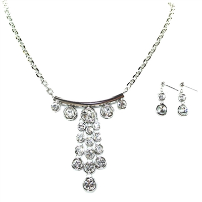 Swarovski Crystals Necklace+Earring set