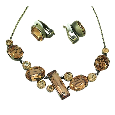 Swarovski Crystals Necklace+Earrings Set