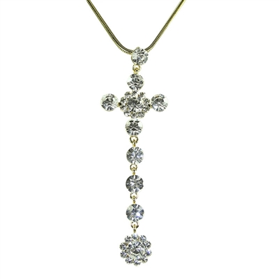 Hot Cross Swarovski Crystals Necklace