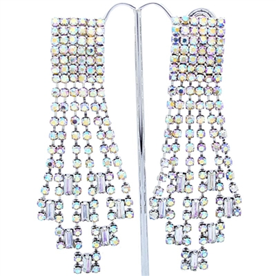 AB Extravagant Gatsby Swarovski Crystals Clip-On Earrings