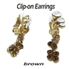 Topaz Dangle Swarovski Crystals Clip-on Earrings