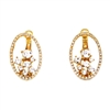 Oval Delicate Swarovski Crystals Earrings