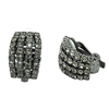 4 Rows Clip-on Diamonte Earrings