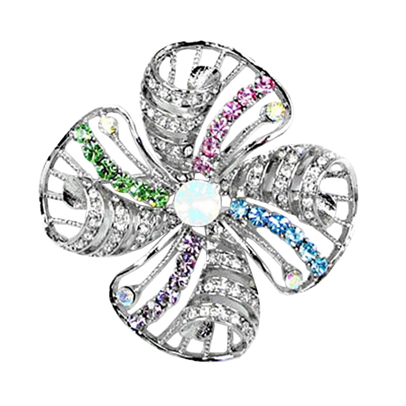 3933cc832286 Swarovski Crystals Vintage flower brooch · Larger Photo ...