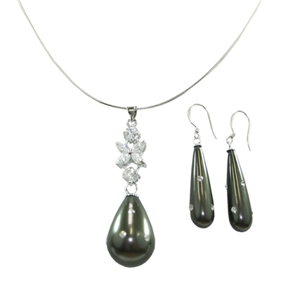 Mother of Pearl Necklace + Earring set