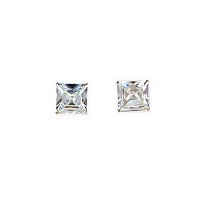 925 Sterling Silver with Cubic Zirconia Small Studs