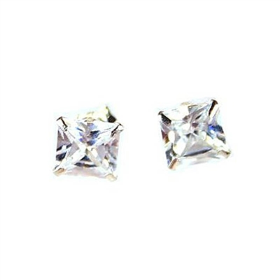 925 Sterling Silver with Cubic Zirconia Large Studs