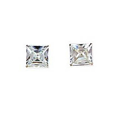 925 Sterling Silver with Cubic Zirconia Medium Studs