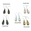 Teardrop Mother of Pearl Earrings 925 Sterling Silver
