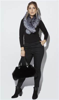 NEW ARRIVAL Silver Fox Fur Large Collar