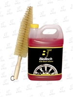 "Wheel/Acid Cleaner 128oz + 17"" Nylon Spoke Brush"