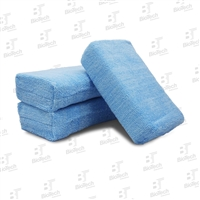 "Microfiber Wax Applicator Sponge Blue 4"" x 6"""