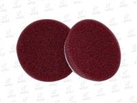 "3"" Uro-Tec Maroon Medium Cut/Heavy Polishing Foam Pad"