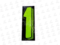 "7.5"" Number Stickers Green/Black -1 Dozen Pack"