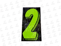 "7.5"" Number Stickers Green/Black -2 Dozen Pack"