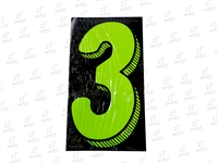 "7.5"" Number Stickers Green/Black -3 Dozen Pack"