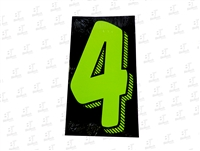 "7.5"" Number Stickers Green/Black -4 Dozen Pack"