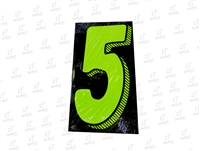 "7.5"" Number Stickers Green/Black -5 Dozen Pack"