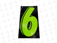"7.5"" Number Stickers Green/Black -6 Dozen Pack"