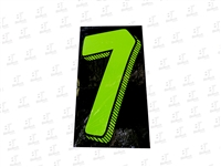"7.5"" Number Stickers Green/Black -7 Dozen Pack"