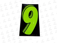 "7.5"" Number Stickers Green/Black -9 Dozen Pack"