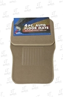 Auto Floor Mats- 4 Pieces- Tan