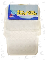 Auto Floor Mats- 4 Pieces- Clear Vinyl