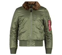 Alpha MJB45500C1 B-15 Slim Fit Flight Jacket