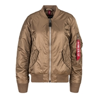 Alpha Womens MA-1 Laced Flight Jacket - WJM48504C1