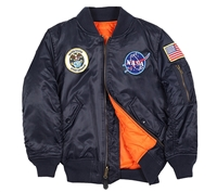 Alpha Youth MA-1 Nasa Jacket - YJM21093C1
