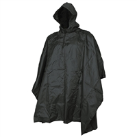 5ive Star Gear Rip Stop Black Poncho 3101